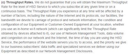 Time Warner Terms of Service